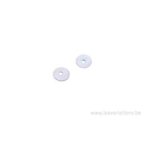 Coupole ronde 6,5 mm - métal argenté brossé x10