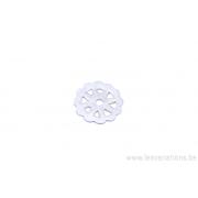 Calotte en forme de fleur - métal argenté brossé x10