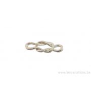 Intermédiaire nœuds de bateau - doré épais - 300 microns x5
