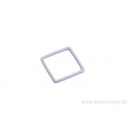 Intermédiaire carré en fil de 15 mm - argent 300 microns x5