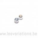 Perle ronde ligné 3mm - en argent 925 - intermédiaire x 5