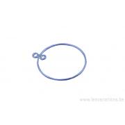 Rond pour boucles d'oreille - 2 anneaux - en argent 925