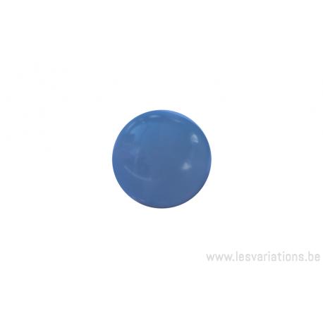 Perle en verre ronde - bleu x 10