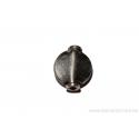 Perle ronde aplatie - métal argent d'Inde - cente bombé x 10