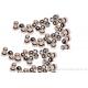 Perle à écraser - métal argenté - vendu par 20