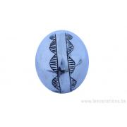 Perle ronde 20 mm - dessin Touareg - argent 925