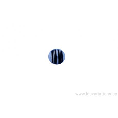Perle ronde Touareg - 8 mm - cerclé de bois d'ébène - argent 925