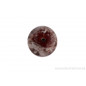 Perle en verre d'artisan - ronde - rouge - bulle
