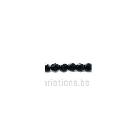 Perle en verre à facettes - bleu marine opaque x10
