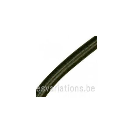 Cordon cuir rond - 58 mm - noir - par 50 cm