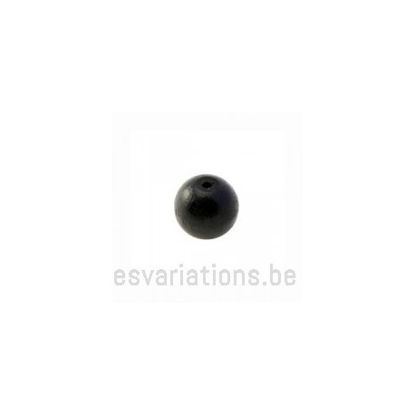 Perles en bois ronde - 10 mm - noir x 40