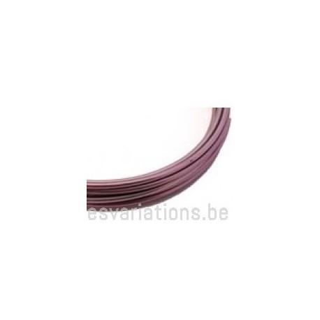 Fil d'aluminium 2 mm - rose - 3 mm