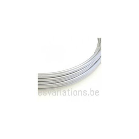 Fil d'aluminium 2 mm - argent - 3 mètres