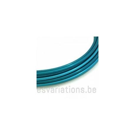 Fil d'aluminium 2 mm - turquoise - 3 mètres