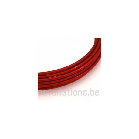 Fil d'aluminium 2 mm - rouge - 3 mètres