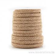Corde polyester Tressée - brun clair - par 25 cm