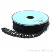 Dentelle polyester - noir - par 25 cm