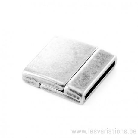 Fermoir aimanté métal rectangulaire