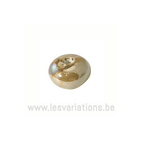 Perle en céramique - beige / crème