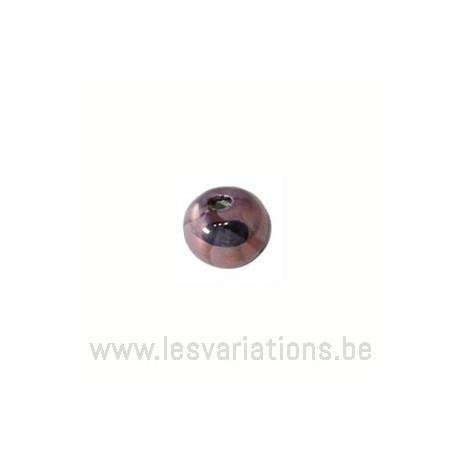 Perle ronde en céramique - fuchsia