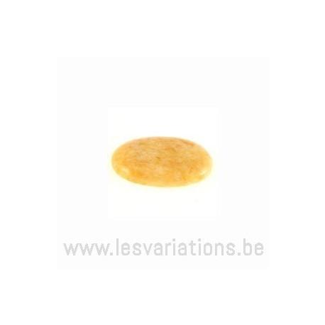 Cabochon Jade jaune 18/13 mm