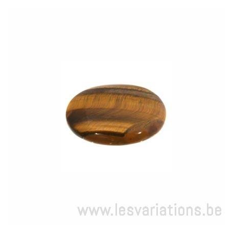 Cabochon Jade oeil de tigre 18/13 mm