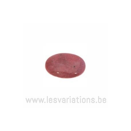 Cabochon pierre semi-précieuse Rhodonite 18/13 mm