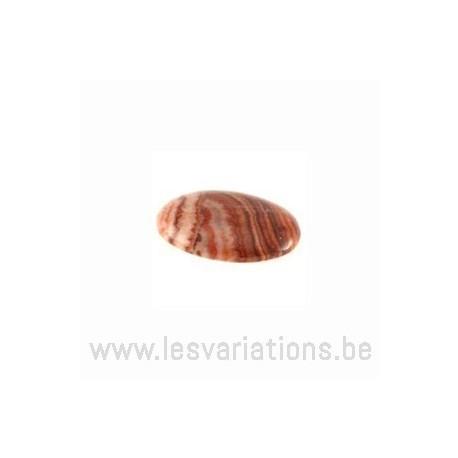 Cabochon pierre semi-précieuse Jaspe Zébré rouge 18/13 mm