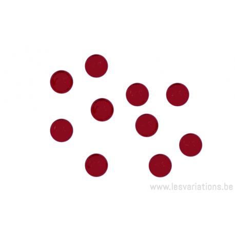 Cabochon en verre 6mm - rouge rubis