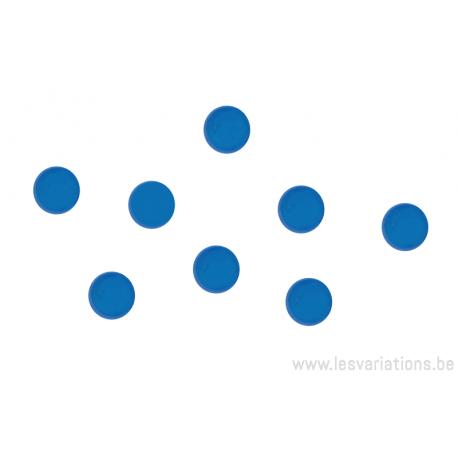 Cabochon en verre 6mm - bleu clair