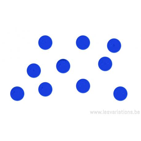 Cabochon en verre 6mm - bleu roi