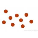 Cabochon en verre 6mm - orange