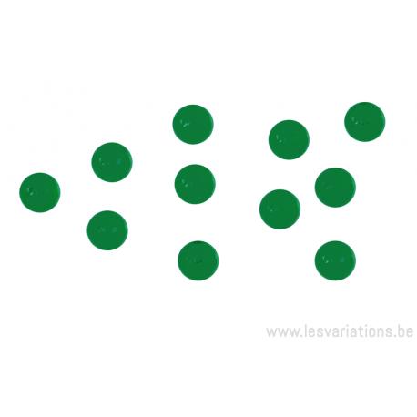 Cabochon en verre 6mm - vert émeraude