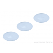 Cabochon en verre 6mm - blanc transparent