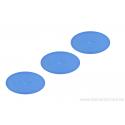 Cabochon ovale en verre 24 /14 mm - bleu mer