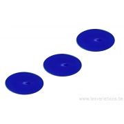 Cabochon ovale en verre 24 /14 mm - bleu roi