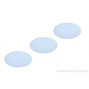 Cabochon ovale en verre 24 /14 mm - blanc