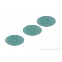 Cabochon ovale en verre 24 /14 mm - vert émeraude