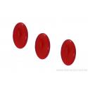 Cabochon ovale en verre 24 /14 mm - Rouge