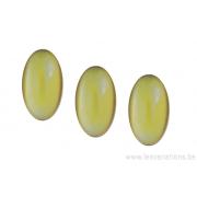 Cabochon ovale en verre 24 /14 mm - jaune