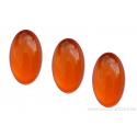 Cabochon ovale en verre 24 /14 mm - orange vif