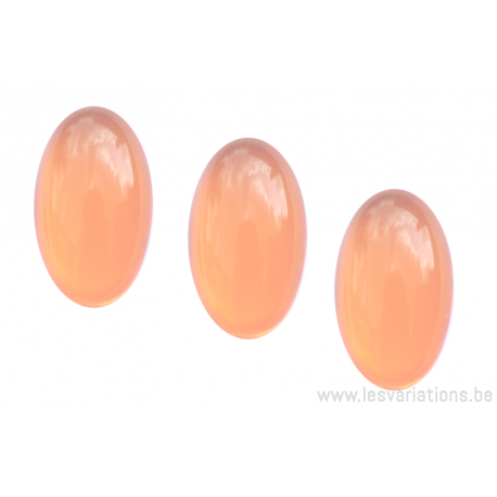Cabochon ovale en verre 24 /14 mm - orange