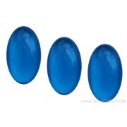 Cabochon ovale en verre 24 /14 mm - bleu