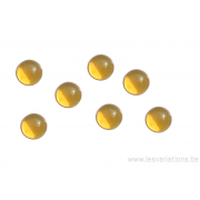 Cabochon en verre 8 mm - jaune
