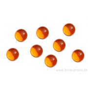 Cabochon en verre 8 mm - orange