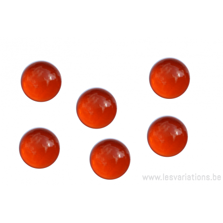 Cabochon en verre 10 mm - orange