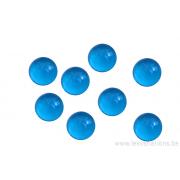 Cabochon en verre 10 mm - bleu transparent