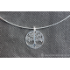 Médaillons rond avec un joli arbre sytilisé - en argent 925