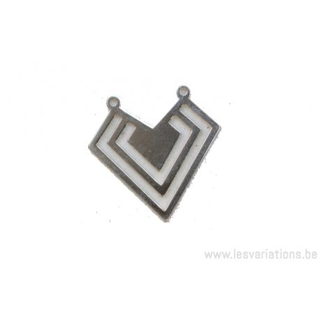 Intermédiaire en forme de triples triangles stylisés - en argent 925