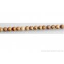 Perle en pierre de Jaspe paysagé